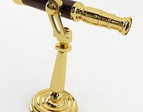 3D model Brass Desk Telescope