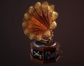 Gramophone 3D asset