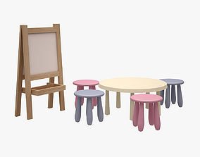 3D model Kids Drafting Board and Table