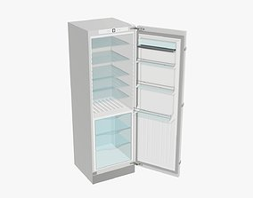 3D Refrigerator free-standing opened