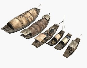 3D Chinese Boat Collection 02
