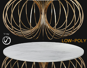 3D asset Coco Coffee Table With Ivory Top