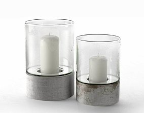 3D model Contemporary Hurricane Candle Holders modern