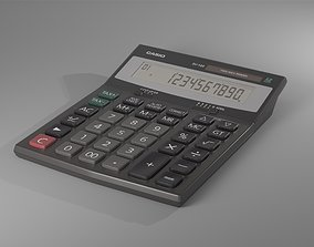 CASIO DJ-120 Calculator 3D model