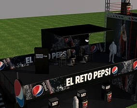 Pepsi exhibition stand 3D