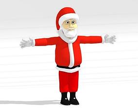 3D model Cartoon Santa Claus