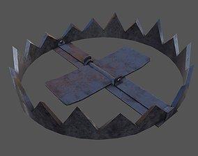 3D asset low-poly Animal Trap