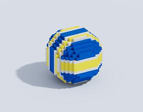 Voxel Volleyball Ball 3D asset