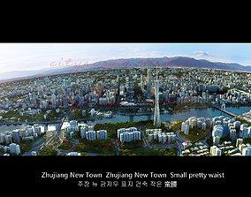3D model Guangzhou City in China