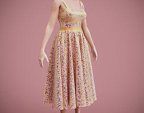 SEQUIN DRESS 3D