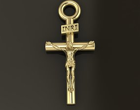 JESUS CROSS PENDANT SMALL SIZE 3D printable model