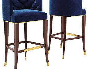 BOURBON BAR STOOL - BRABBU 3D model stool