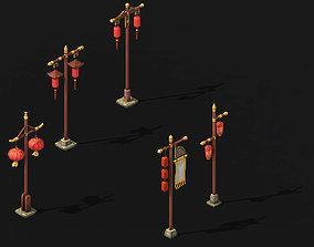 Dynasty Lantern - Flagpole - Shop 3D