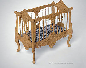 3D printable model cradle art