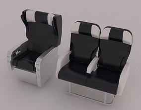 Airbus A319 Aircraft Seats 3D