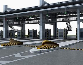 3D model Toll Station