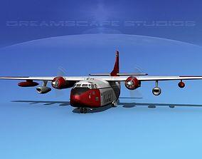 Fairchild C-123K Provider V06 3D model