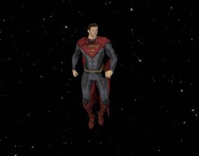 Superman 3D model animated