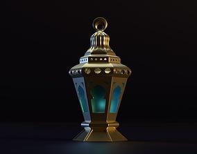Detailed Islamic Lantern for Ramadan 3D asset
