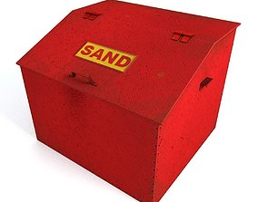 Box With Sand 3D asset