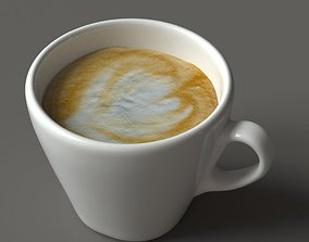 3D asset game-ready Cup of coffee