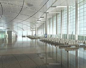 Airport Terminal Lobby 001 3D