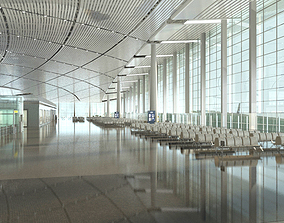 3D Airport Terminal Lobby 001