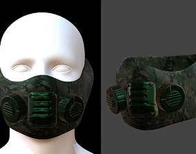 Gas mask helmet low-poly 3