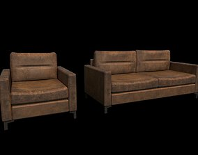 3D asset Sofa and Armchair