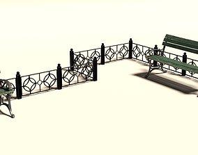 Fence 3D asset VR / AR ready design