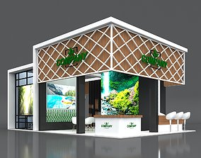 Exhibition Stand Booth 10x7m Height 500cm 4 Side 3D model
