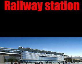 Railway station 3D exterior