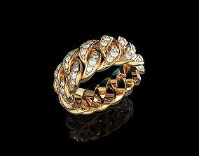 Diamond Cuban Ring N6 3D printable model