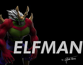 games-toys fairy tail elfman strauss anime 3d model