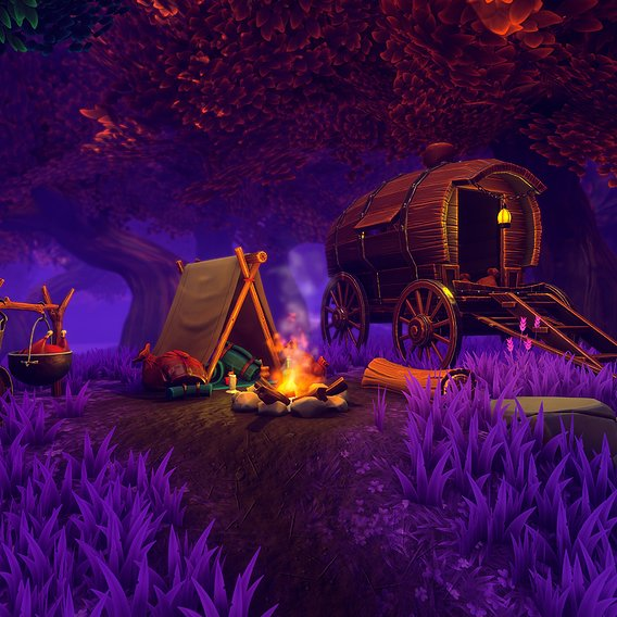 Stylized Fantasy - Magical Campsite