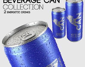 3D Energetic Beverage Can Collection - 2 Sizes