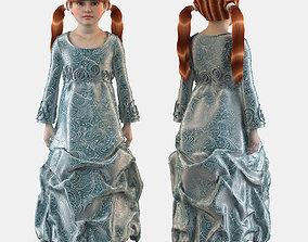Girl dress t shirt skirt Baby clothes 3D model baby