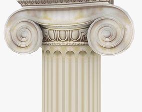 Roman Ionic Piller Low Poly 3D asset