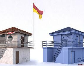 Lifeguard Building 3D model