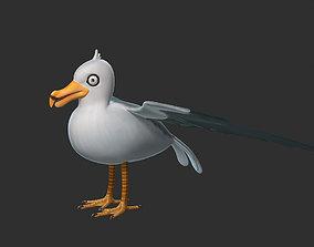 Bird Seagull Rig 3D model