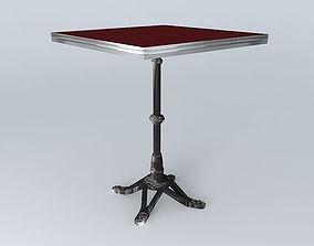 BISTRO TABLE SQUARE ARDAMEZ Company 3D model fred