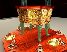 3D model Chinese bronze incense burner