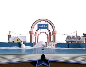 Cartoon ice rink 3D