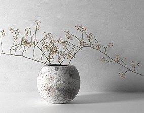 3D Vase with Rose Hip