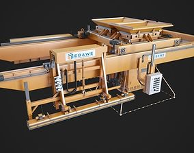 Concrete plant machine 3D print model