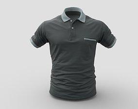 Polo shirt 3D model VR / AR ready