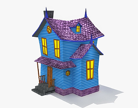 Cartoon home 3D asset low-poly
