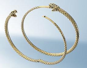 3D print model Earrings Snake Ouroboros