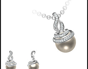 Excellent pearl pendant types of jewelry 3D print model