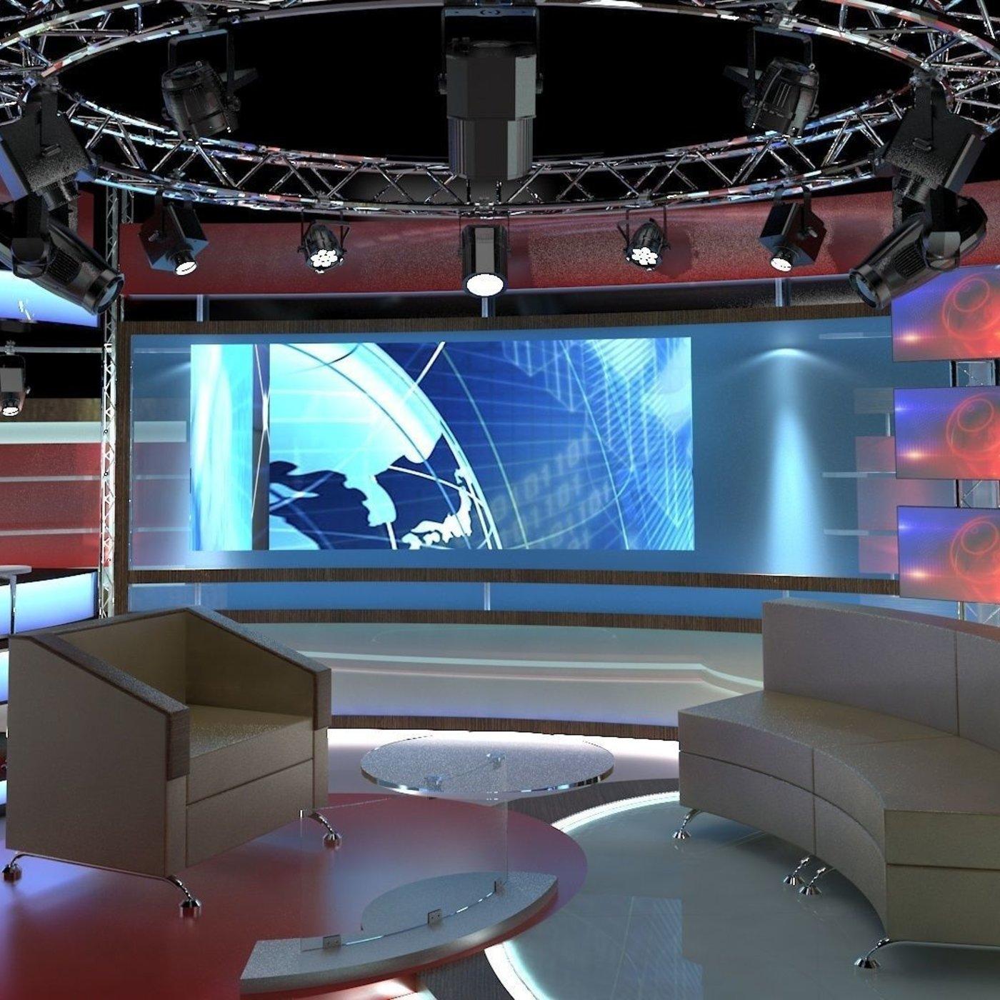 Virtual TV Studio Chat Set 1